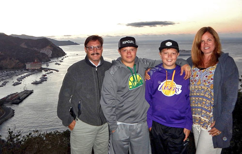 Dr. Warwar and her family at Catalina Island